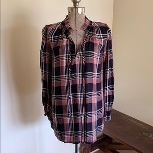 LOFT Plaid Tunic